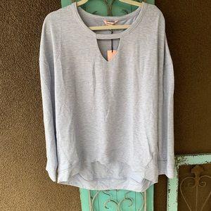 Juicy couture blue long sleeve keyhole sweatshirt